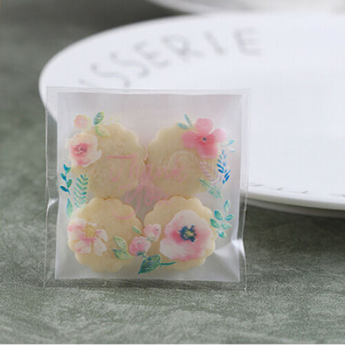 100Pcs//Bag Rose Design OPP Gift Cake Biscuit Candy Party DIY Decoration Supplies
