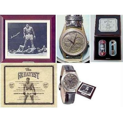 Muhammad Ali SIGNED Limited Edition Fossil Watch Set The Greatest COA signiert