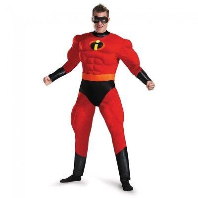 Disguise Disney Mr.Unglaubliche Deluxe Muskel Adult Herren Halloween - Herr Unglaubliche Halloween Kostüm