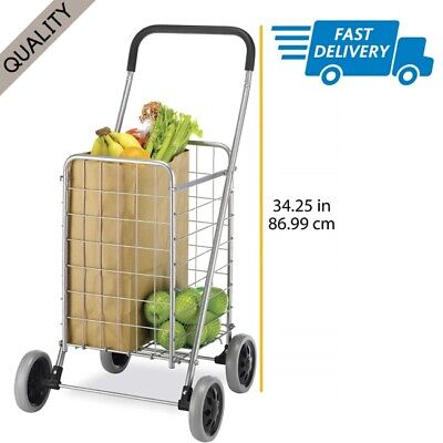 Shopping Cart For Seniors Outdoor Walkers Folding Wheeled Grocery Rolling Bag