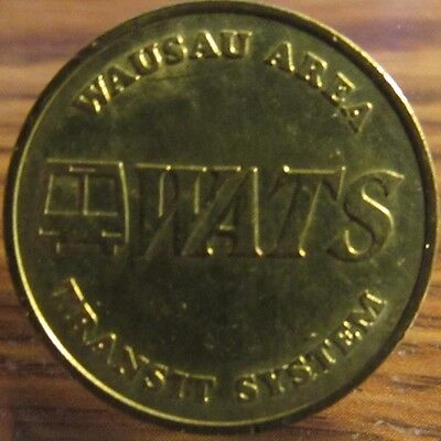 Vintage Wausau, WI Area Transit System Bus Token - Wisconsin Wisc.