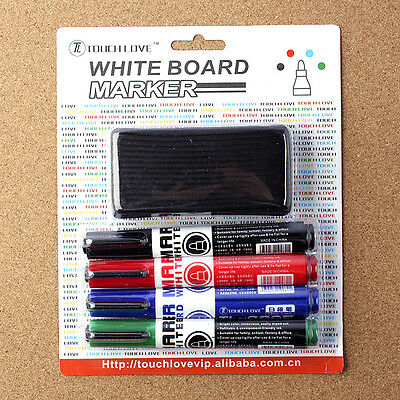 4PCS Whiteboard Marker Pens White Board Dry Erase 4 Colors