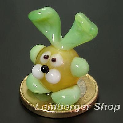 Tierfigur MINI Kaninchen aus Glas handgefertigte Glasfigur Geschenk 2,5 cm hoch