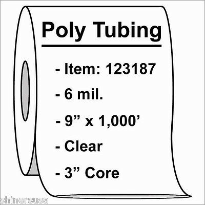 Heavy Poly Tubing Roll 9x1000 6 Mil Clear Heat Sealable Plastic Roll 123187