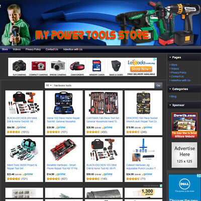 Power Tools Hardware Store - Turnkey Website - Online Business With Affiliate