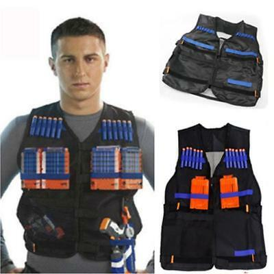 Elite Tactical Vest with Muffler Target Quick Reload Bullet for Toy Gun MA