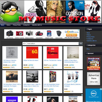 Music Store - Make Money With Affiliate Business Website Earn Money At Home