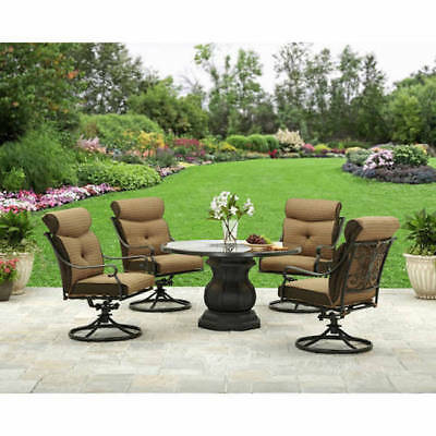 Patio Furniture Chairs Set Outdoor Dining Table Rocking Cushions Swivel 5 Piece