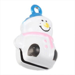 5x-Wholesale-Charms-White-Snowman-Jingle-Bells-Fit-Festival-Decorative-270254