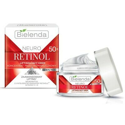 Bielenda Neuro Retinol Lifting Anti Wrinkle Cream Concentrate 50+ Day Night 50ml