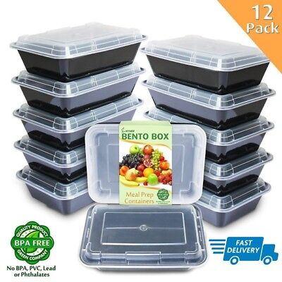 Storage Containers For Freezer Fridge Box Camping Lunch Food 12 Boxes With Lids (Containers For Storage)