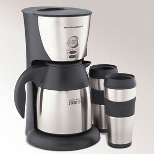 Hamilton Beach 45234 Stay or Go Thermal Stainless Coffee Maker