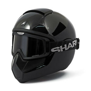 casque integral shark vancore noir brillant gloss black moto harley davidson. Black Bedroom Furniture Sets. Home Design Ideas