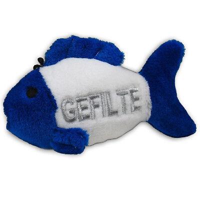 """Multipet Hanukkah TALKING Gefilte Fish Plush Dog Toy Holiday 7.5"""""""