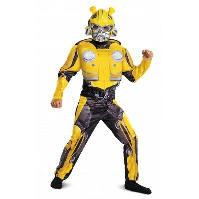 Disguise Transformer Bumblebee Classic Muscle Child Boys Halloween Costume 67655 (Halloween Transformer Costume)