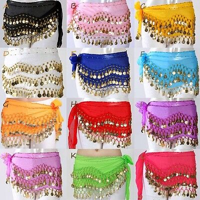Child Kid Belly Dance Hip Skirt Scarf Wrap Belt Hip scarf with Gold/Silver Coins