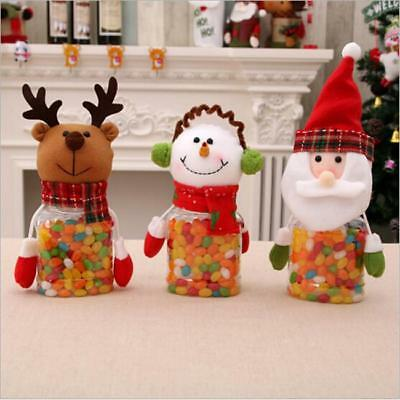 Christmas Candy Jar Plastic Cookie Storage Colorful Gift For Kid Home Decor WA ()