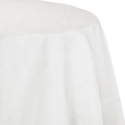 White 2/Ply Paper-Poly Round Tablecloth 82