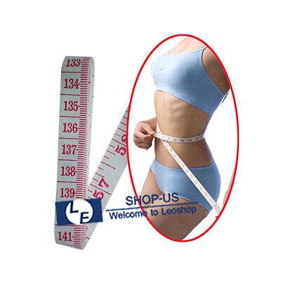 "Body Measuring Ruler Sewing Cloth Tailor Tape Measure Soft Flat Ruler 60"""