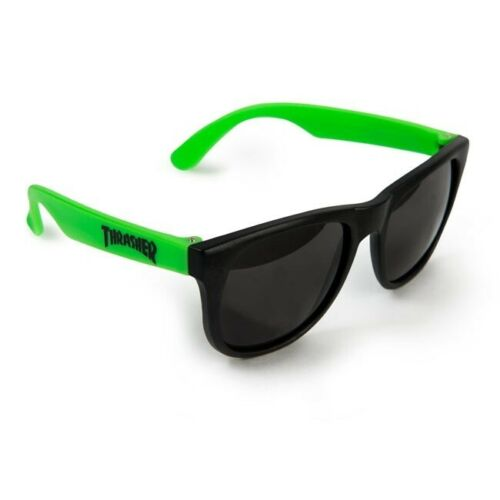 Thrasher Skateboard Magazine Logo Neon Green / Black Sunglasses