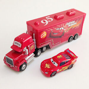 New Disney Pixar Cars Lightning McQueen & MACK Mack Superliner .Truck 2-Pack Toy