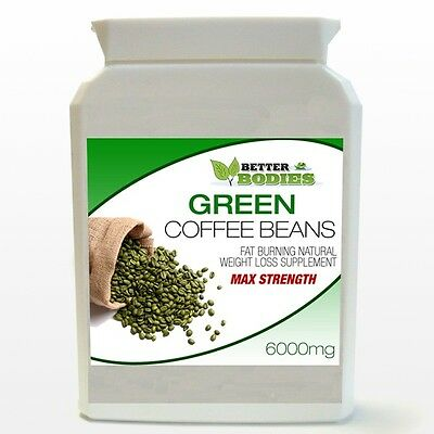 60 PURE GREEN COFFEE BEAN EXTRACT DIET BOTTLE BETTER BODIES UK HIGHEST