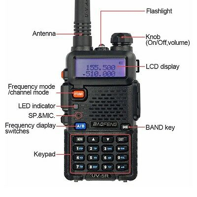 BaoFeng UV-5R 136-174/400-479.995MHz Dual-Band DTMF CTCSS DCS FM ham 2way radio on Rummage