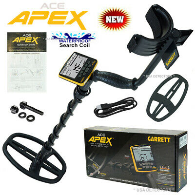 Garrett Ace Apex Multi-frequency Metal Detector With Viper 6 X 11 Viper Coil