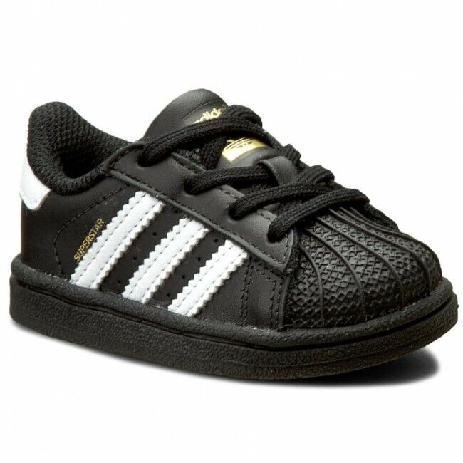 Adidas Originals Toddler's Super Star Shoes NEW AUTHENTIC Black/White BB9078