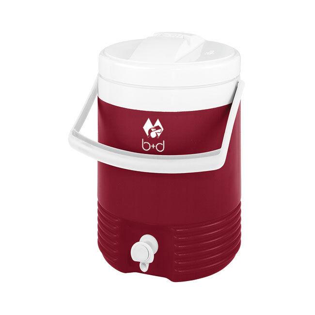 Getränkebehälter - Kühlbehälter  LEGEND  v. Igloo  7,6 l Inhalt, weinrot/weiß