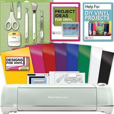 Cricut Explore Air 2 Machine Bundle   Tool Kit  Vinyl Pack  Designs Inspiration