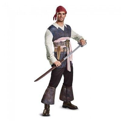 Disguise PoTC5 Captain Jack Sparrow Pirate Adult Mens Halloween Costume 22917