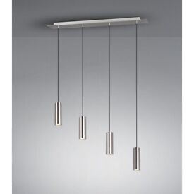 Trio Leuchten Pendant Light Matte Nickel 4-Bulb Pendant Light
