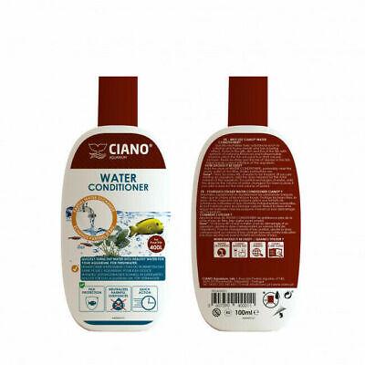Ciano Aquarium Water Treatment Conditioner Dechlorinator 100ml Treats 400L