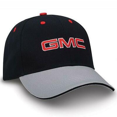 GMC Truck Logo Two - Tone Value Cap Grey Silver Black New Baseball Hat