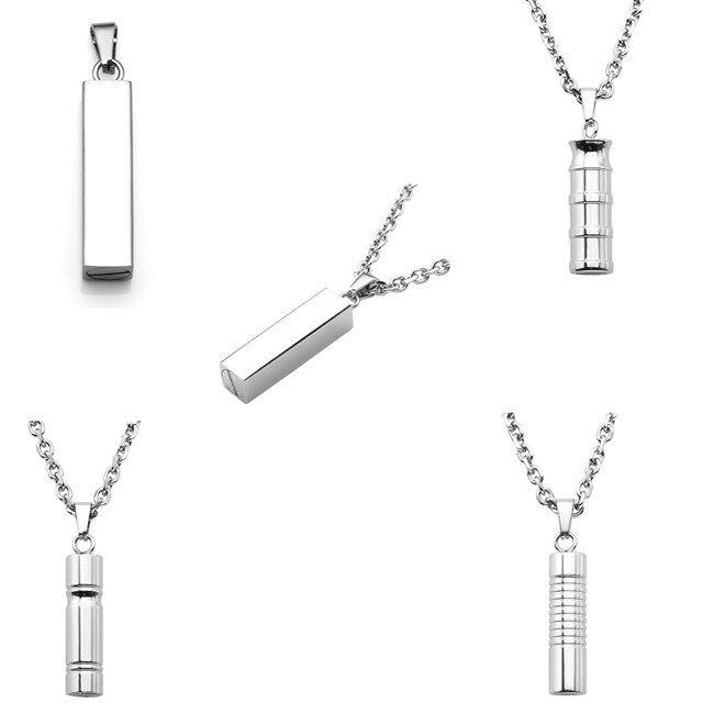 Men's Women Steel Cylinder Openable Memorial Urn Ash Keepsak