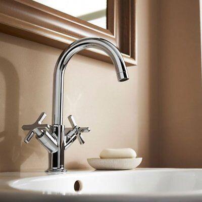 Mira Revive Chrome Bathroom Crosshead Handle Mono Basin Mixer Tap 2.1819.001 Chrome Revival 2 Handle