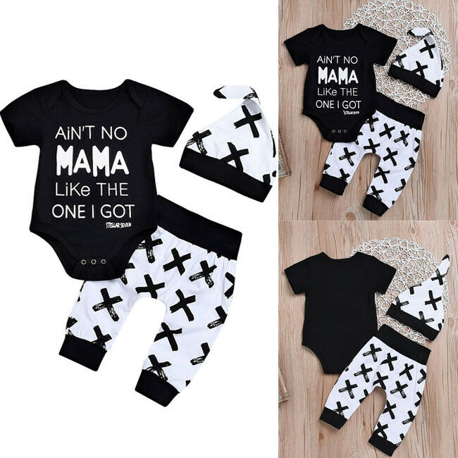 Newborn Infant Baby Boy Girl Kids Romper Jumpsuit Bodysuit Clothes Outfit
