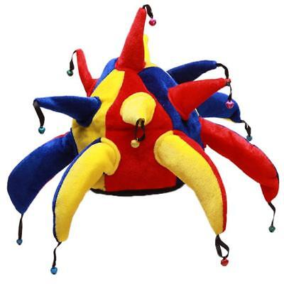 Funny Costume Jester Clown Hat for Mardi Gras Carnival Party Multicolor Shan ()