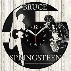 Bruce Springsteen Vinyl Record Wall Clock Decor Handmade 3839