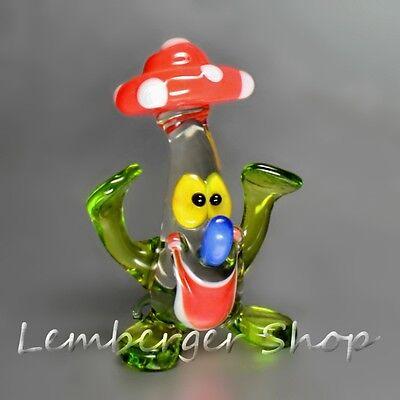 Fliegenpilz aus Glas, handgefertigte Glasfigur Schönes Geschenk 5 cm hoch