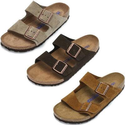 Birkenstock Taupe Arizona Sandals - Birkenstock Arizona Suede Leather Taupe Mocha Mink SFB Strap Sandals Shoes