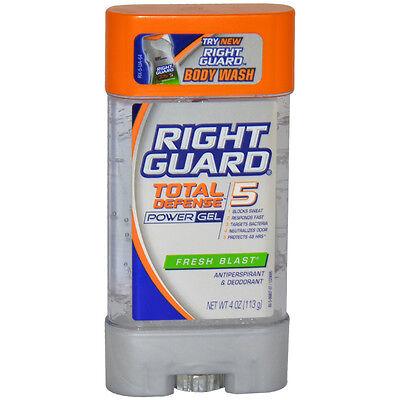 Power Gel Blasts - Total Defense 5 Power Gel Antiperspirant Deodorant Fresh Blast by Right Guard fo