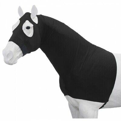 Mane Stay Hood (Tough-1 100% Spandex Mane Stay Hood Full Zipper Black Small Horse Tack Equine  )