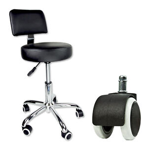 Pedicure Tattoo Black Stool Adjustable Footrest Doctor Dentist Salon Spa Chair
