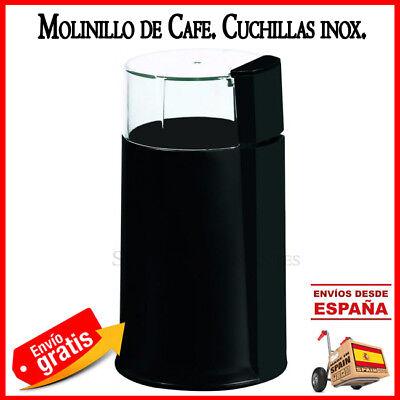 MOLINILLO ELECTRICO DE CAFE O ESPECIAS MOLER GRANOS COFFEE MOLEDOR 50GR NEGRO