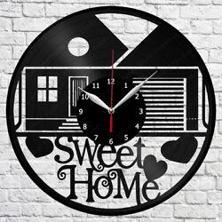 Sweet home Vinyl Record Wall Clock Art Decor Original Gift 12 30cm 1810