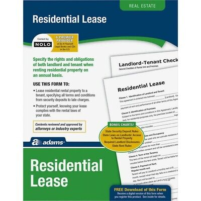 New - Adams Residential Lease Real Estate Forms And Instructions Lf310
