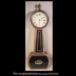 Antique Single Weight Driven Movement Banjo Wall Clock 29H