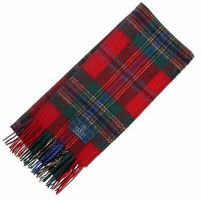 Scottish 100 % Authentic Wool Tartan MacLean of Duart Clan Scarf New ! Maclean Duart Tartan